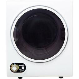 Compact 1.5 cu. ft. Electric Dryer White Space Saving Wall M