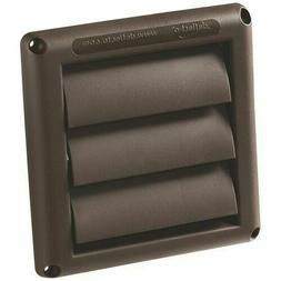 1 individual  Deflecto  Louvered Dryer Vent Cover Brown HS6B