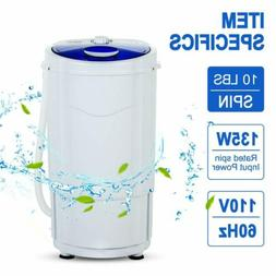 10 LBS Modern Portable Spin Dryer Mini Compact Spinning Mach