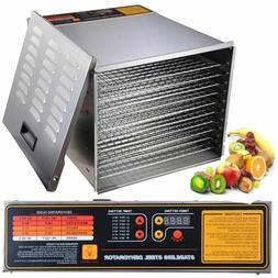 Commercial Food Dehydrator 10 Tray Stainless Steel  55L Frui
