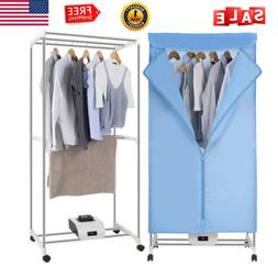 1000W Portable Electric Clothes Dryer Heater Wardrobe Dryer