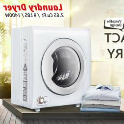 1400W 2.65 Cu.Ft Compact Laundry Dryer 9 LBS Portable Clothe