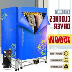1500w blue portable electric air heater clothes