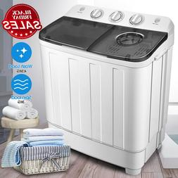 17lbs Portable Mini Twin Tub Compact Washing Machine Washer