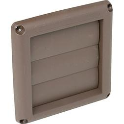 """197156 4"""" LOUVERED VENTHOOD - BROWN-set of 2"""