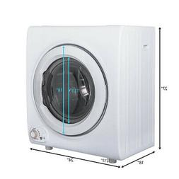 2.65 Cu.Ft Electric 9 LBS Clothes Tumble Dryer Compact Laund