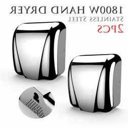 2 Pack Commercial High Speed Heavy Duty Stainless Steel Auto