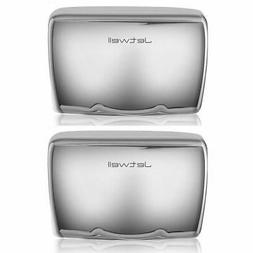 JETWELL 2 Pack High Speed Commercial Automatic Hand Dryer -