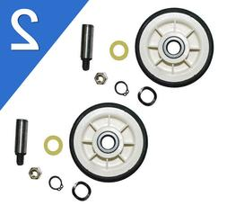 2 Pack Maytag Dryer Roller Wheel Drum Support Kit 303373K fo