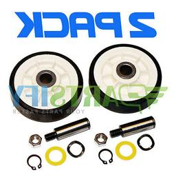 2 PACK NEW PS1570070 DRYER SUPPORT ROLLER WHEEL KIT FITS MAY