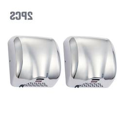 2 Pack Stainless Steel Automatic Hand Dryer Commercial 1800W