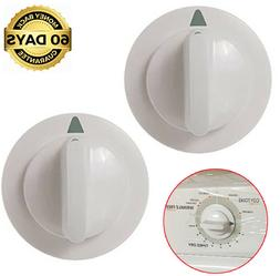 2 x Clothes Dryer Timer Knob GE Hotpoint HTDP120ED2WW HTDX10