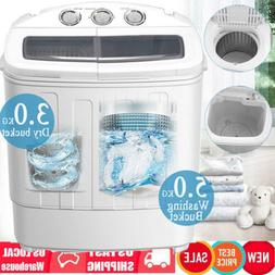2in1 Portable Compact Twin Tub 18.7lb Washing Machine Laundr