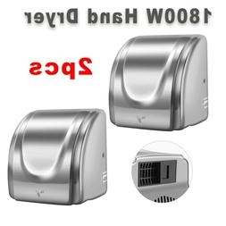 2PC Stainless Steel Automatic Commercial Electric Hand Dryer