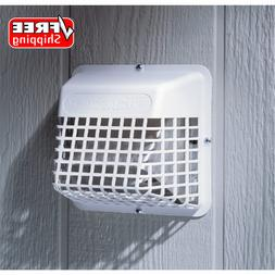 """3 - 4"""" Replacement Dryer Vent Hood White Exhaust Fan Cover W"""
