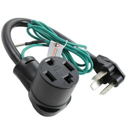 4 to 3 Prong Dryer Adapter Cord Plug Connects New Dryers to
