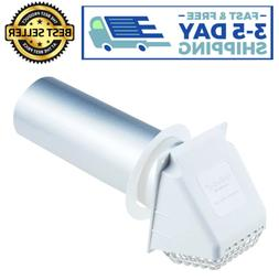 4'' Deflecto Wide Mouth Dryer Vent Hood Removable Bird Guard