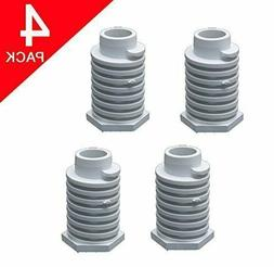 4 X 49621 - 4pk Leveling Feet for Whirlpool Dryer - Factory