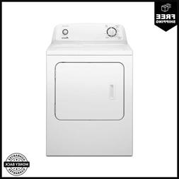 6.5 cu. ft. 240-Volt White Electric Vented Dryer with Wrinkl