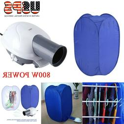 800W Portable Electric Clothes Dryer Heater Rack Wardrobe Ai