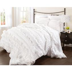 Lush Décor Belle 4 Piece Ruffled Comforter Set with Bed Ski