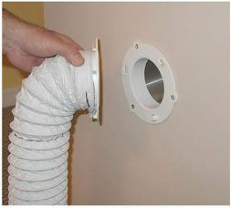 """NEW WHITE DRYER VENT QUICK CONNECT FITS 4"""" TUBES 6"""" OVERALL"""