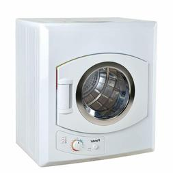 3.75 cu.ft compact laundry dryer, white