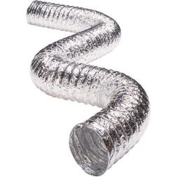 Snap to Vent Aluminum Dryer Hose 4 inch diameter x 8 feet lo