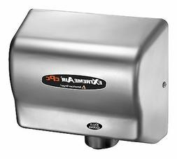 Adjustable High Speed 100 - 240 Volt Hand Dryer in Stainless