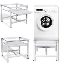 Adjustable Washing Machine Pedestal Dryer Laundry Stand with