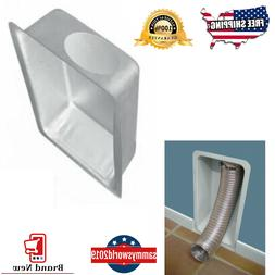IMPERIAL Aluminum Dryer Vent Paintable Recessed Box Protects