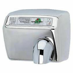 World Dryer Automatic Hand Dryer, DXA54-972, 208/230V, Brigh