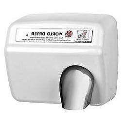 World Dryer Automatic Hand Dryer, XA5-974AU, 115V, Cast Iron