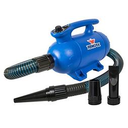 Xpower B-24 Variable Speed Pet Dryer with Heat 3 HP, Blue