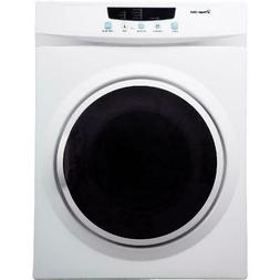Compact Electric Dryer White 3.5 cu ft Laundry Apartment App