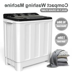 Compact Washing Machine Twin Tub Portable Washer Spinner Dry