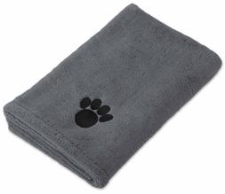 DII Bone Dry Microfiber Pet Bath Towel with Embroidered Paw
