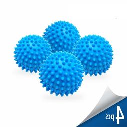Dryer Balls 4 Pack Blue Reusable Dryer Balls Replace Laundry