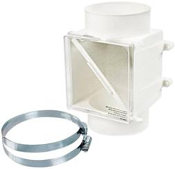 Electric Dryer Lint Trap Fits 4in Duct Booster Fan In-Line V