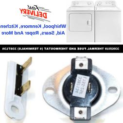 Dryer Cycling Thermostat & Thermal Fuse For Whirlpool Maytag