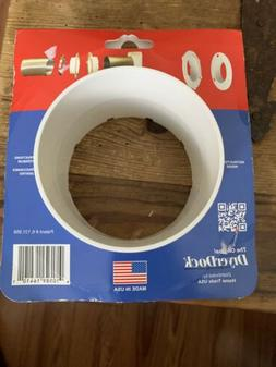 Dryer Dock Dryer Vent 6'' for 4'' Tubes, White *New*