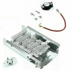Dryer Heating Element Kit w Thermostat - Whirlpool WED4800XQ