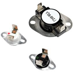 HQRP Dryer Thermostat & Thermal Fuse Kit for Admiral LA1053
