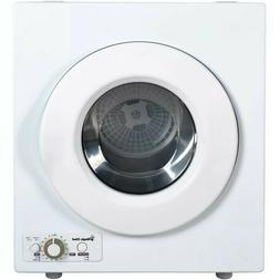 Magic Chef Electric Compact Laundry Dryer in White 2.6 Cu-Ft