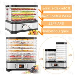 HOMDOX Food Dehydrator 6 Tier Stainless Steel Fruit Jerky Me