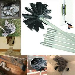 Feet Synthetic Brush Head Clear Dryer Duct Cleaning Kit Lint
