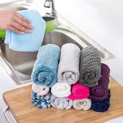 Fiber Dish Cloth Kitchen Cleaner Wipping Washing Rags Car Cl