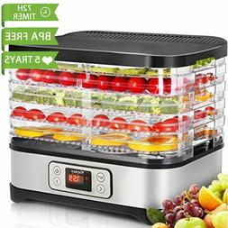 Food Dehydrator   5/7/8 tier Food Fruit Vegetable Dryer Temp