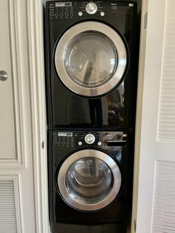 LG Front Load Stackable Washer and Dryer Set Black Energy St