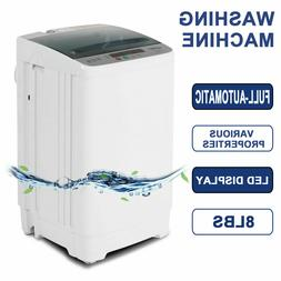 Full-Automatic 8LBS Portable Compact Washing Machine Spin Dr